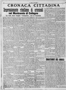 La Stampa - Rivolta in Manicomio